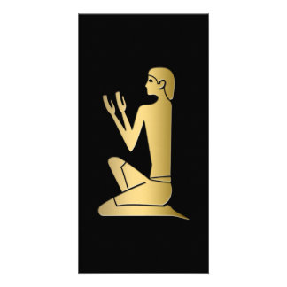Ancient Egyptian praying figure Photo Card