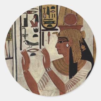 Ancient Egyptian Queen [Nefertari] Classic Round Sticker