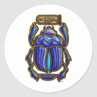 Ancient Egyptian Scarab Classic Round Sticker