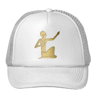 Ancient Egyptian seated figure Trucker Hat