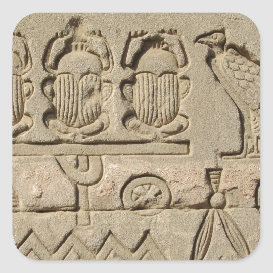 Ancient Egyptian Symbols Square Sticker