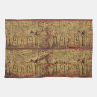 Ancient Egyptian Temple Wall Art Kitchen Towel
