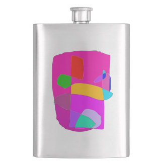 Ancient Face Hip Flask