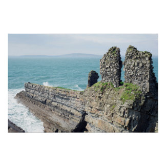 ancient formation and lick castle ruins poster