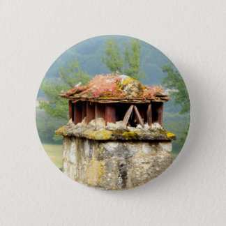 Ancient French Chimney Badge 2 Inch Round Button