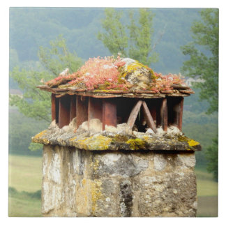 Ancient French Chimney Ceramic Photo Tile