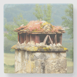 Ancient French Chimney Marble Stone Coaster