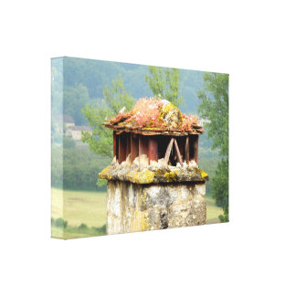 Ancient French Chimney Stretched Canvas Print