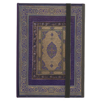 Ancient Gold On Purple Decorative Book Cover iPad Air Cases