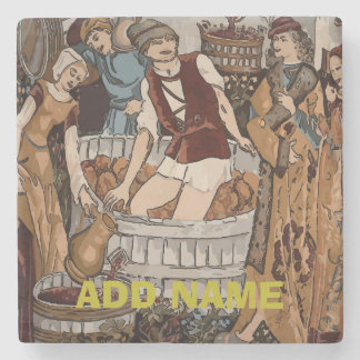 Ancient Grape Growers, Wine, edit text Stone Coaster