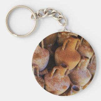 Ancient Greek Amphoras Basic Round Button Keychain