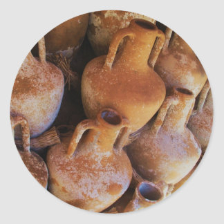 Ancient Greek Amphoras Round Sticker