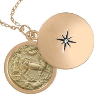 ANCIENT GREEK COIN APOLLO LOCKET NECKLACE