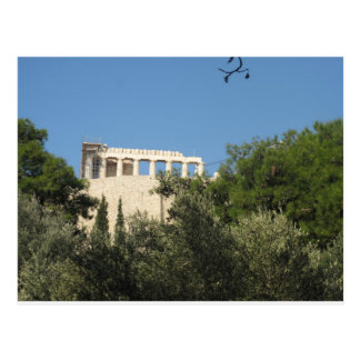 Ancient Greek Parthenon from afar Postcard