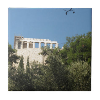 Ancient Greek Parthenon from afar Tile