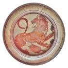 Ancient Greek Roaring Lion Plate