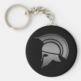 Ancient Greek Spartan Helmet Basic Round Button Keychain