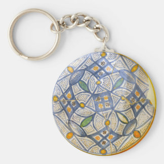 ancient greek symbol ceramic ethnic motif clay myt basic round button keychain