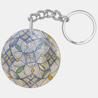 ancient greek symbol ceramic ethnic motif clay myt Double-Sided round acrylic keychain