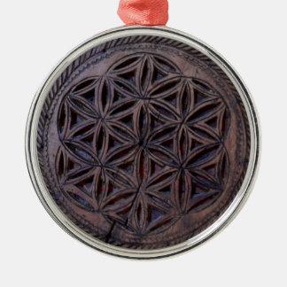ancient greek symbol wood ethnic flower motif carv metal ornament