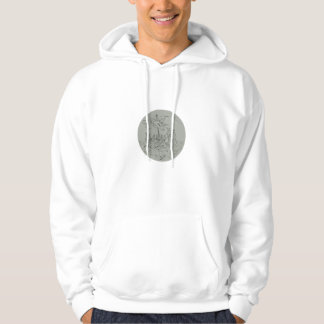 Ancient Greek Trireme Warship Circle Drawing Hoodie
