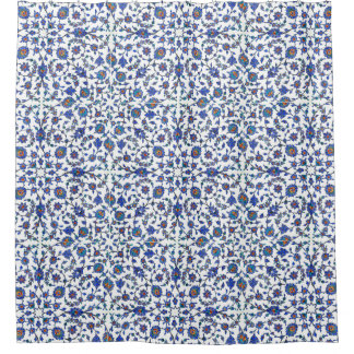 Ancient Handmade Turkish Floral Tiles Pattern