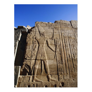 Ancient hieroglyphs on wall, Temple of Karnak, Postcard
