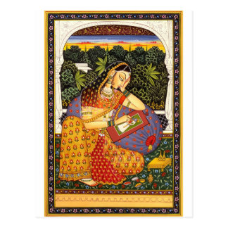 Ancient Indian Mughal Princess Postcard