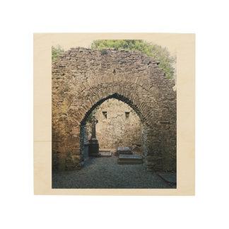 Ancient Irish Cemetery Wood Canvas