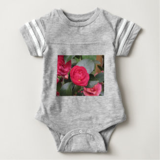Ancient japanese cultivar of red Camellia japonica Baby Bodysuit