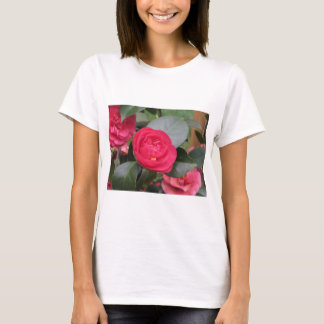 Ancient japanese cultivar of red Camellia japonica T-Shirt