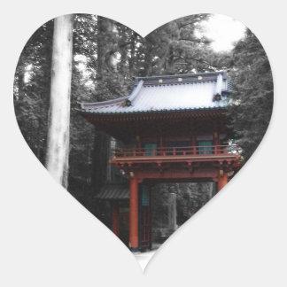 Ancient Japanese Gate Heart Sticker
