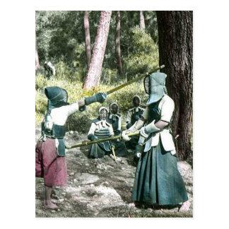 Ancient Japanese Kendo Martial Art Vintage Japan Postcard