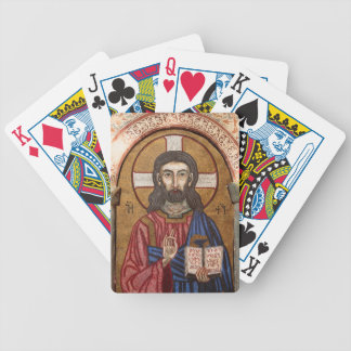 Ancient Jesus Mosaic Bicycle Playing Cards