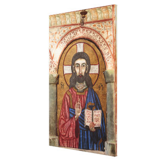 Ancient Jesus Mosaic Canvas Print