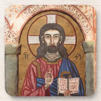 Ancient Jesus Mosaic Coaster