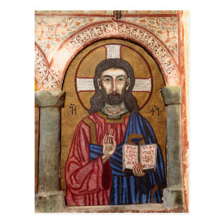 Ancient Jesus Mosaic Postcard