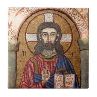Ancient Jesus Mosaic Tile