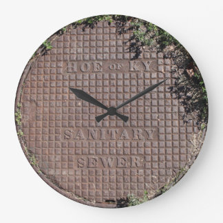 """Ancient"" Kentucky man hole cover wall clock. Large Clock"