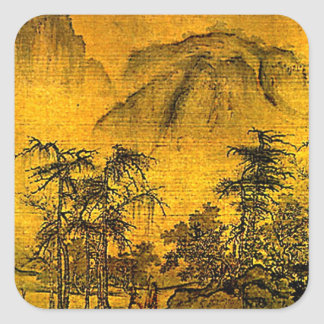 Ancient Landscape Square Sticker