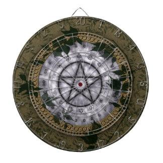 Ancient Magic Pagan Pentacle Dartboard