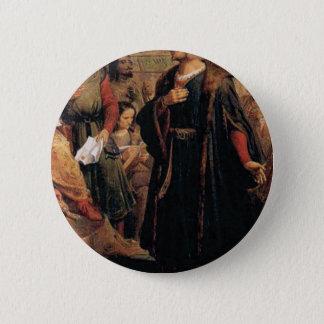 ancient man in black robe 2 inch round button