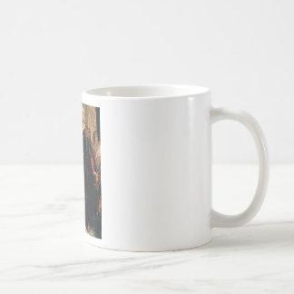 ancient man in black robe coffee mug