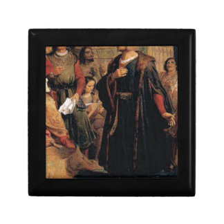 ancient man in black robe gift box
