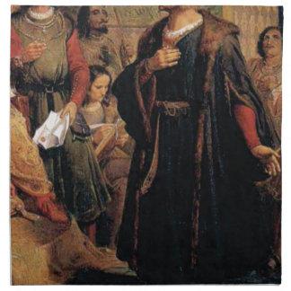 ancient man in black robe napkin
