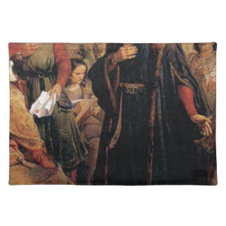 ancient man in black robe placemat