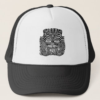 Ancient Maori Moko tribal tattoo design. Trucker Hat