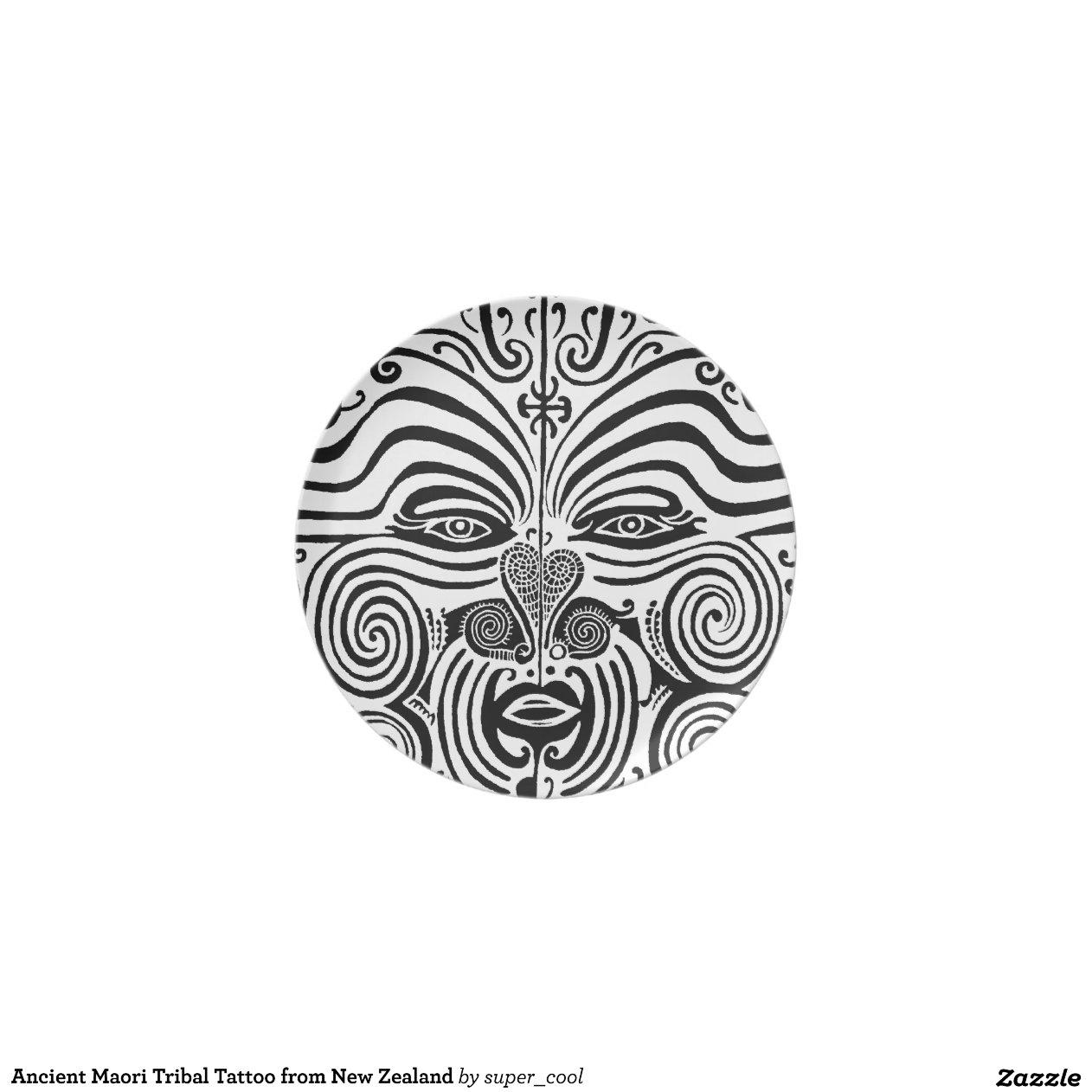 ancient maori tribal tattoo from new zealand zazzle. Black Bedroom Furniture Sets. Home Design Ideas