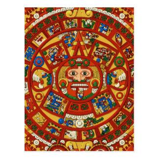 Ancient Mayan Calendar Symbol Postcard