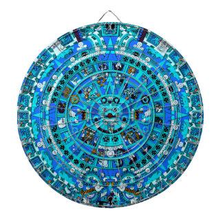 Ancient Mayan Prophetic Design Dartboard ~